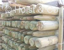 Wood Fence Posts - Round